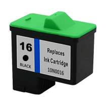 Lexmark 10N0016 (#16) Black ink remanufactured inkjet cartridge