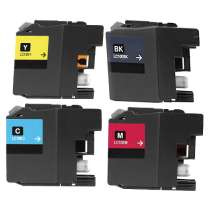 Multipack Brother LC10E High Capacity - 4 compatible inkjet cartridges - 1 each Black, Cyan, Magenta, Yellow