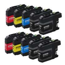 Multipack Brother LC203 High Capacity - 10 compatible inkjet cartridges - 4 Black and 2 each Cyan, Magenta, Yellow