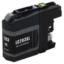 Brother LC203BK High Capacity Black ink compatible inkjet cartridge