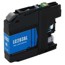 Brother LC203C High Capacity Cyan ink compatible inkjet cartridge