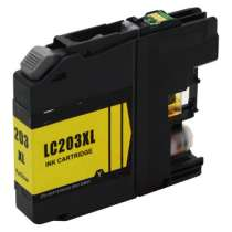 Brother LC203Y High Capacity Yellow ink compatible inkjet cartridge