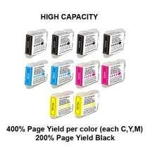 Multipack Brother LC51 - 10 compatible inkjet cartridges - 4 Black and 2 each Cyan, Magenta, Yellow