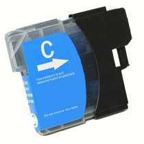Brother LC61C Cyan ink compatible inkjet cartridge