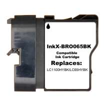 Brother LC65BK High Capacity Black ink compatible inkjet cartridge