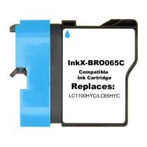 Brother LC65C High Capacity Cyan ink compatible inkjet cartridge