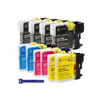 Multipack Brother LC65 HIGH CAPACITY - 10 compatible inkjet cartridges - 4 Black and 2 each Cyan, Magenta, Yellow