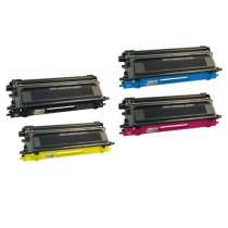 Brother TN115BK / TN115C / TN115M / TN115Y High Yield compatible toner cartridges - 4-pack