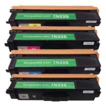 Brother TN336BK / TN336C / TN336M / TN336Y compatible toner cartridges - 4-pack