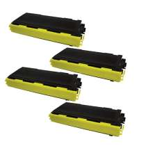 Brother TN350 Black compatible toner cartridges - 4-pack