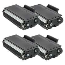 Brother TN580 High Yield Black compatible toner cartridges - 4-pack