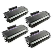 Brother TN650 High Yield Black compatible toner cartridges - 4-pack