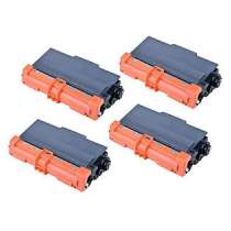 Brother TN750 High Yield Black compatible toner cartridges - 4-pack