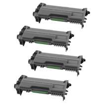 Brother TN820 Black toner cartridges - 4-pack