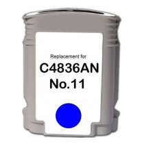 HP 11 Cyan (HP C4836AN) Cyan ink remanufactured inkjet cartridge