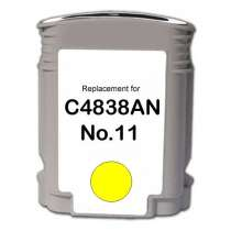 HP 11 Yellow (HP C4838AN) Yellow ink remanufactured inkjet cartridge