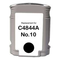 HP 10 Black (HP C4844A) High Capacity Black ink remanufactured inkjet cartridge