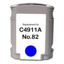 HP 82XL Cyan (HP C4911A) High Capacity Cyan ink remanufactured inkjet cartridge
