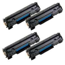 Canon 125 Black remanufactured/compatible toner cartridges - 4-pack