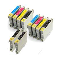 Multipack Canon BCI-21BK / BCI-24C - 12 compatible inkjet cartridges - 8 Black and 4 Color