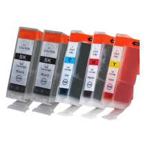 Multipack Canon BCI-3 - 5 compatible inkjet cartridges - 2 Black and 1 each Cyan, Magenta, Yellow