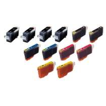 Multipack Canon BCI-3eBK / BCI-6C / BCI-6M / BCI-6Y - 10 compatible inkjet cartridges - 4 Black and 2 each Cyan, Magenta, Yellow
