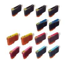 Multipack Canon BCI-6 - 14 compatible inkjet cartridges - 4 Black and 2 each Cyan, Magenta, Yellow, Photo Cyan, Photo Magenta