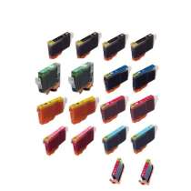 Multipack Canon BCI-6 - 18 compatible inkjet cartridges - 4 Black and 2 each Cyan, Magenta, Yellow, Photo Cyan, Photo Magenta, Red, Green