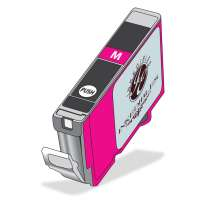 Canon CLI-221M Magenta ink compatible inkjet cartridge with Inkedibles Edible ink