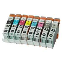 Multipack Canon CLI-42BK / CLI-42C / CLI-42M / CLI-42Y / CLI-42PC / CLI-42PM / CLI-42GY / CLI-42LGY - 8 compatible inkjet cartridges - 1 each CLI-42 Black, Cyan, Magenta, Yellow, Photo Cyan, Photo Magenta, Gray, Light Gray