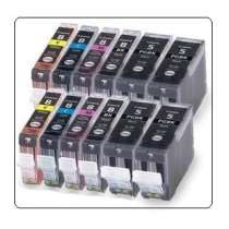 Multipack Canon PGI-5 / CLI-8BK / CLI-8C / CLI-8M / CLI-8Y - 12 compatible inkjet cartridges - 4 Pigmented Black PGI-5 and 2 each CLI-8 Black, Cyan, Magenta, Yellow