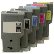 Multipack Canon PFI-207 - 5 compatible inkjet cartridges