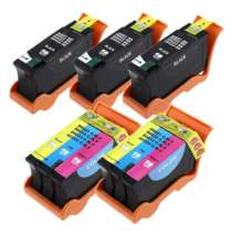 Multipack Dell Series 24 - 5 compatible inkjet cartridges - 3 Black and 2 Color