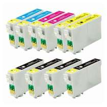 Multipack Epson 60 - 10 remanufactured inkjet cartridges - 4 Black and 2 each Cyan, Magenta, Yellow