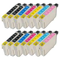 Multipack Epson 79 - 14 remanufactured inkjet cartridges - 4 Black and 2 each Cyan, Magenta, Yellow, Light Cyan, Light Magenta