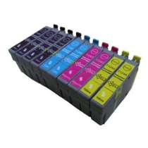 Multipack Epson 124 - 10 remanufactured inkjet cartridges - 4 Black and 2 each Cyan, Magenta, Yellow
