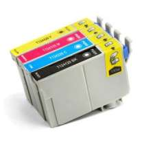 Multipack Epson 124 - 4 remanufactured inkjet cartridges - 1 each Black, Cyan, Magenta, Yellow