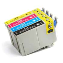Multipack Epson 125 - 4 remanufactured inkjet cartridges - 1 each Black, Cyan, Magenta, Yellow