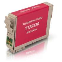 Epson 125 Magenta (T125320) Pigmented Magenta ink remanufactured inkjet cartridge