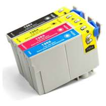 Multipack Epson 126 - 4 remanufactured inkjet cartridges - 1 each Black, Cyan, Magenta, Yellow