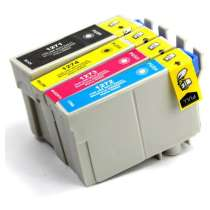 Multipack Epson 127 - 4 remanufactured inkjet cartridges - 1 each Black, Cyan, Magenta, Yellow