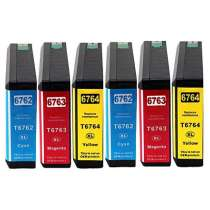 Multipack Epson 676XL - 6 remanufactured inkjet cartridges - 2 each Cyan, Magenta, Yellow