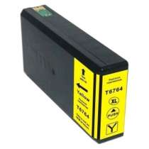 Epson 676XL Yellow (T676XL420) High Capacity Pigmented Yellow ink remanufactured inkjet cartridge