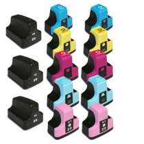 Multipack HP 02 - 13 remanufactured inkjet cartridges - 3 Black and 2 each Cyan, Magenta, Yellow, Light Cyan, Light Magenta