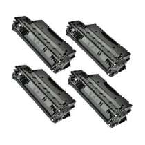 HP 05X High Yield Black - CE505X remanufactured/compatible toner cartridges - 4-pack