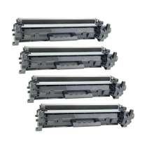 HP 17A Black - CF217A remanufactured/compatible toner cartridges - 4-pack