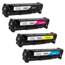 HP 304A remanufactured/compatible toner cartridges - 4-pack