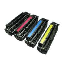 HP 312A - CF380A / CF381A / CF383A / CF382A remanufactured/compatible toner cartridges - 4-pack