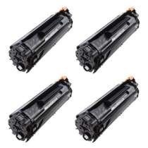 HP 35A Black - CB435A remanufactured/compatible toner cartridges - 4-pack