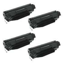 HP 36A Black - CB436A remanufactured/compatible toner cartridges - 4-pack